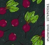 black chalk board. seamless... | Shutterstock .eps vector #1076905061