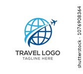 travel logo template  holiday... | Shutterstock .eps vector #1076908364