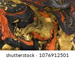 marble abstract acrylic... | Shutterstock . vector #1076912501
