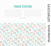 train station concept with thin ...