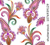 eamless bright pattern with... | Shutterstock .eps vector #1076939129