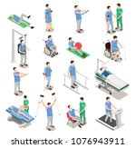 medical staff and patients... | Shutterstock .eps vector #1076943911