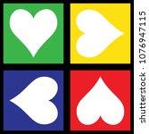 vector hearts set | Shutterstock .eps vector #1076947115