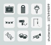 premium set of fill icons. such ... | Shutterstock .eps vector #1076949899