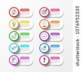 infographic design template.... | Shutterstock .eps vector #1076952335