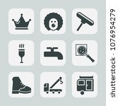 premium set of fill icons. such ... | Shutterstock .eps vector #1076954279