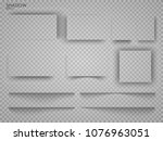 vector shadows isolated. page...   Shutterstock .eps vector #1076963051