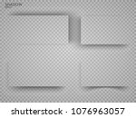 vector shadows isolated. page... | Shutterstock .eps vector #1076963057