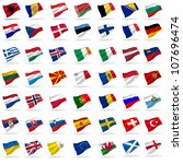 all european flags set icons... | Shutterstock . vector #107696474