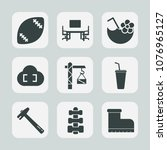 premium set of fill icons. such ... | Shutterstock .eps vector #1076965127