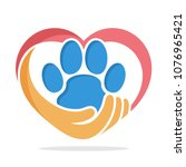 Stock vector illustration icon with the concept of animal care 1076965421