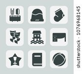 premium set of fill icons. such ... | Shutterstock .eps vector #1076968145