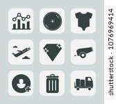 premium set of fill icons. such ... | Shutterstock .eps vector #1076969414