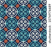 gorgeous seamless pattern... | Shutterstock .eps vector #1076976689
