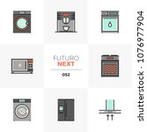 modern flat icons set of home... | Shutterstock .eps vector #1076977904