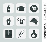 premium set of fill icons. such ... | Shutterstock .eps vector #1076980241
