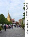 grand palace  wat prakaew ... | Shutterstock . vector #1076984051