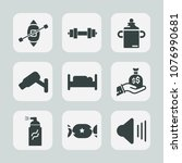 premium set of fill icons. such ... | Shutterstock .eps vector #1076990681