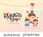happy mother's day template... | Shutterstock .eps vector #1076997365