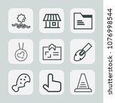 premium set of outline icons.... | Shutterstock .eps vector #1076998544