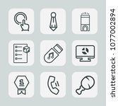 premium set of outline icons.... | Shutterstock .eps vector #1077002894