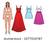 vector set of beautiful... | Shutterstock .eps vector #1077010787