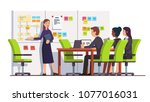 business consultant showing... | Shutterstock .eps vector #1077016031