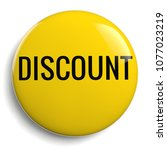 discount offer round yellow sign | Shutterstock . vector #1077023219