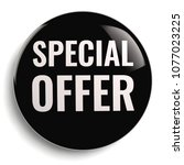 special offer discount black... | Shutterstock . vector #1077023225