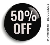 50  off discount offer round... | Shutterstock . vector #1077023231