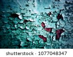 metal texture with scratches... | Shutterstock . vector #1077048347