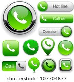 phone green design elements for ... | Shutterstock .eps vector #107704877