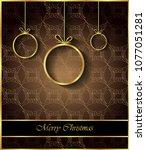 2019 merry christmas background ... | Shutterstock . vector #1077051281