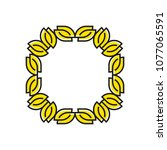 herbal frame in a modern style  ...   Shutterstock .eps vector #1077065591