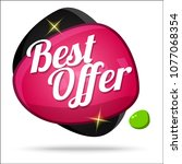 best offer colorful offer...   Shutterstock .eps vector #1077068354