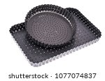 metal perforated forms for... | Shutterstock . vector #1077074837