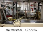 an automated factory interior. | Shutterstock . vector #1077076