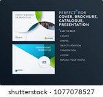 material design presentation... | Shutterstock .eps vector #1077078527