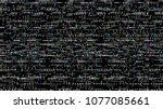 glitch. abstract shapes. chaos. ... | Shutterstock .eps vector #1077085661
