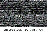 glitch. abstract shapes. chaos. ... | Shutterstock .eps vector #1077087404