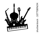music jazz band icon. group of... | Shutterstock .eps vector #1077089654