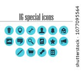 illustration of 16 online icons....