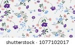 seamless floral pattern in... | Shutterstock .eps vector #1077102017