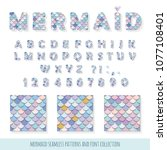 Mermaid Font And Seamless...