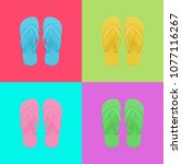 Colorful Set Of Flip Flops...