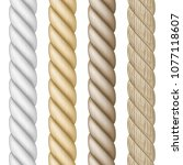 set of different realistic rope   Shutterstock .eps vector #1077118607