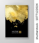 vector black and gold design... | Shutterstock .eps vector #1077122024