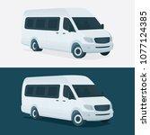 minivan vector illustration.... | Shutterstock .eps vector #1077124385