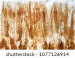 grunge metal painted texture.... | Shutterstock . vector #1077126914