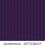 isometric grid. vector seamless ... | Shutterstock .eps vector #1077128117
